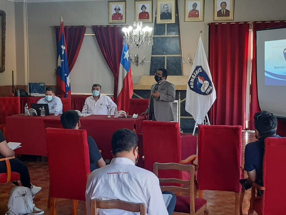 Director de ANB y Coordinador regional de Valparaíso encabezaron reunión con Comandantes de CB de provincias de Los Andes y San Felipe
