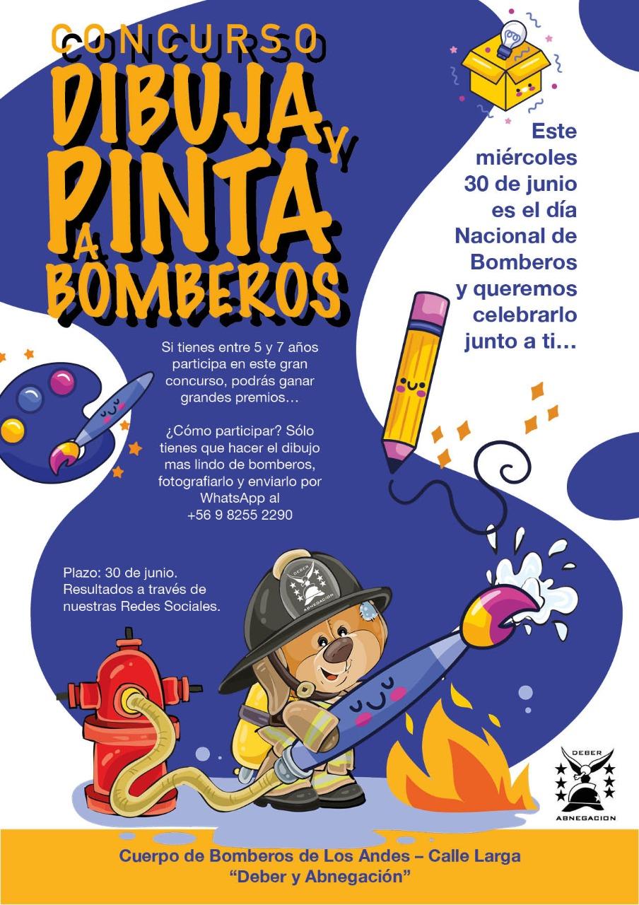 Concurso Dibuja y Pinta a Bomberos.